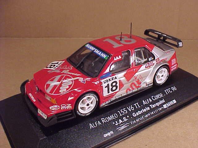 Onyx  XT018 1 43 Pressofuso Alfa Romeo 155,1996 Itc,Tarquini Crashed At Diepholz