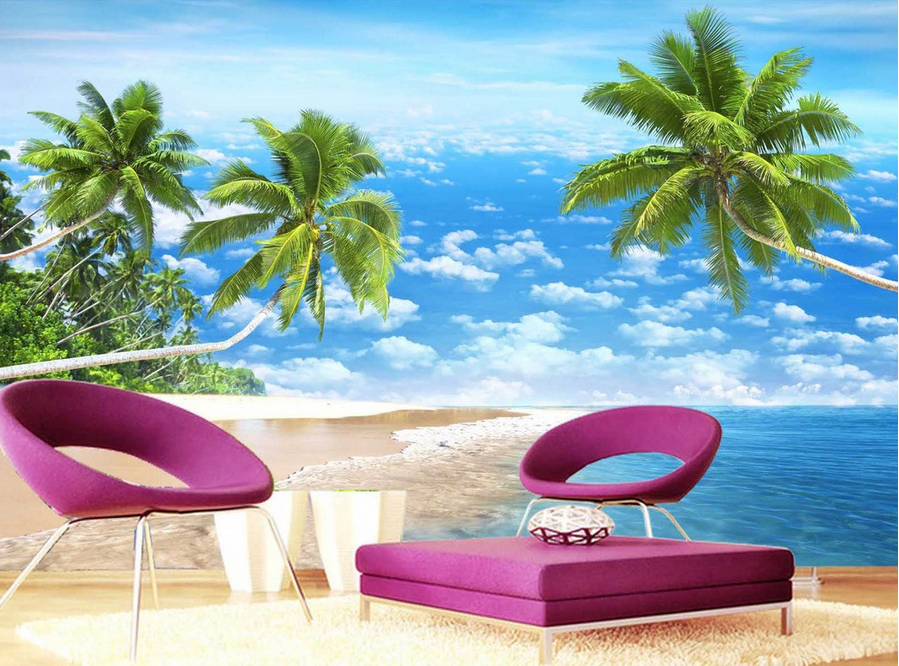 3D Plam View Sky 64 Wallpaper Murals Wall Print Wallpaper Mural AJ WALL UK Carly