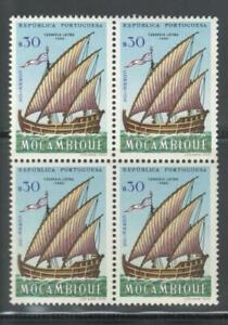 Portugal-Mozambique-1963-Ships-block-of-4-30c-MNH-OG
