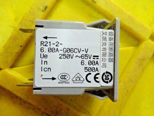 AIRPAX R21-1   6-G06CV-V   6.00A 125//250V BREAKER