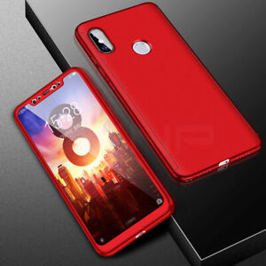 wholesale dealer 61307 eb680 Details about 360° Full Cover Case + Tempered Glass For Xiaomi Mi 8 SE A1  A2 Lite Pocophone F1