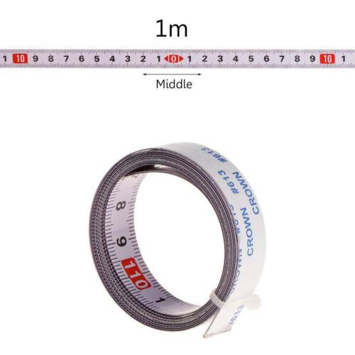 1x Self Adhésif Biseau Scie Piste Ruban à mesurer en acier métrique Règle Outil de mesure