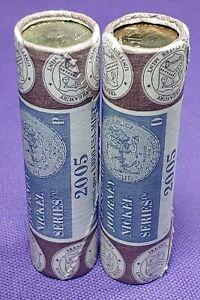 Mint-Wrapped-2005-P-amp-D-Westward-Journey-Bison-Jefferson-Nickel-Rolls
