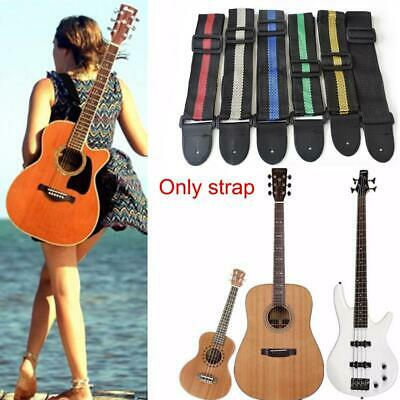Verstellbarer weicher Gitarrengurt Akustische E-Gitarren Bass Gurtba Nylon S6S8