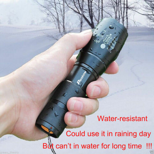 20000LM XML T6 LED Tactical Survival Flashlight+18650 Battery+Charger+Case Pouch