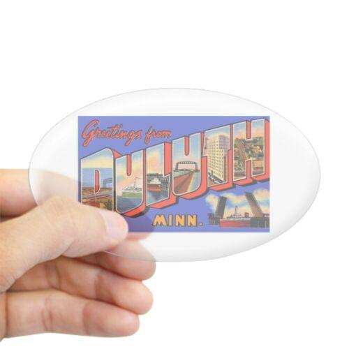CafePress Duluth Minnesota Greetings Oval Sticker Sticker 85858026 Oval