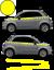 Fiat-500-Autocollant-Bandes-Stickers-adhesifs-decoration-couleur-au-choix miniatura 6