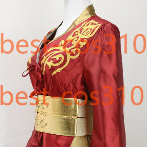 Queen Cersei Lannister Red Dress Cosplay Game of Thrones Halloween Costumes Set
