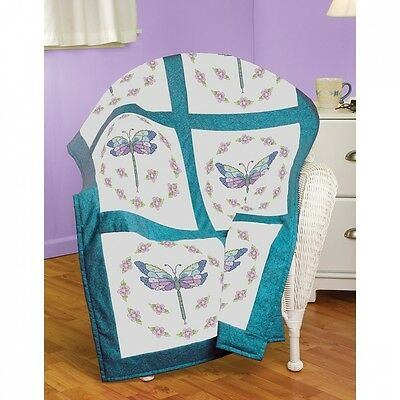 Janlynn Dragonfly Quilt Block Stamped Cross Stitch, 46cm by 46cm , 6-Pack. Best