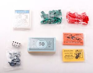 Monopoly 1998//2000 Replacement Tokens Parts Pieces You Pick Choose What You Need