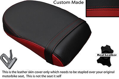 DARK RED & BLACK CUSTOM FITS YAMAHA XVS 1300 MIDNIGHT STAR 07-14 REAR SEAT COVER
