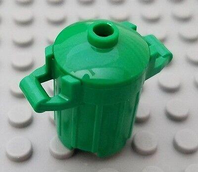 Lego Green Bin Dustbin Trash Can With Broom Utensil Accessories For Minifigure