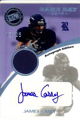Sencillo James Casey Rc Rookie Draft Auto Gu Jersey Patch Rice Owls College #/25 2009