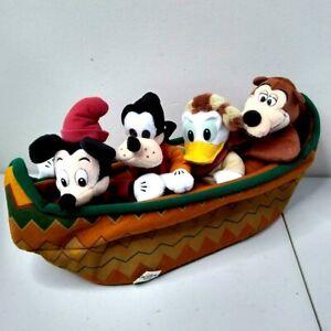 Disney Fort Wilderness Lodge Resort Plush Beanies w Canoe Cruise Line Mickey NWT