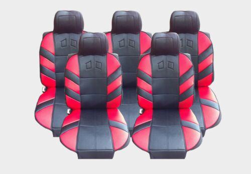 5x Sedili Auto Cuscino edizione rosso tessuto nuovo di alta qualità VAN AUTO UNIVERSALE