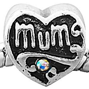 Mum-Heart-Charm-Bead-with-AB-Rhinestones-Fit-Silver-European-Charm-Bracelet-m24