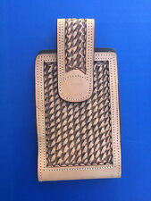 Western Cowboy/Cowgirl Tooled Leather Cell Phone Case