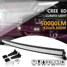 52 INCH 500W CURVED COMBO CREE LED LIGHT BAR Offroad Truck SUV 4WD Car Lamp 52''