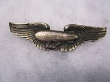 Original pre WWII era STERLING AAF Air Ship Pilot Wings ~ VANGUARD / RARE!!