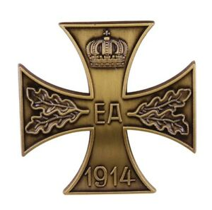WWI-German-Brunswick-Ernst-August-War-Merit-Cross-1st-Class-Medal-Badge-Replica