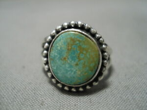 IMPORTANT-JEANETTE-DALE-NAVAJO-ROYSTON-TURQUOISE-STERLING-SILVER-RING