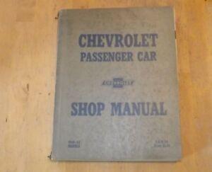 Diagnostic & Test Tools Chevrolet Passenger Car Shop Manual 1949 ...