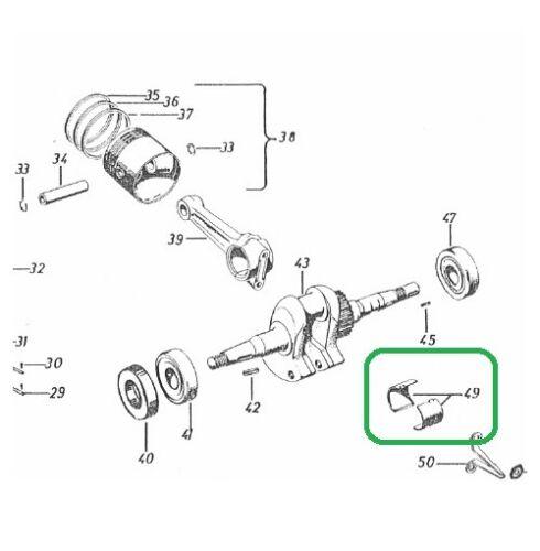 Subalmacén de biela almacén cáscaras std adecuado para MAG motor 2055 2060 Gutbrod