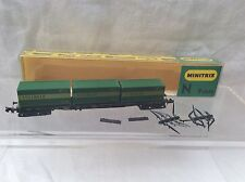 MINITRIX N GAUGE 3511 CONTAINER WAGON WITH 3x SCHENKER CONTAINERS - BOXED