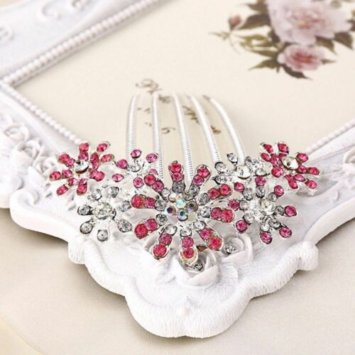 Women Crystal Trendy Pin Hairwear Flower Hair Comb Accessories 1pcs Rhinestone