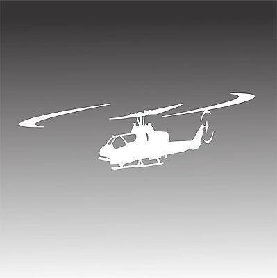 AH-1W Super Cobra Helicopter Decal AH 1W Chopper Inflight Pilot Crew Sticker 1