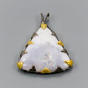 Dendritic-Jasper-Pendant-Silver-925-Sterling-Vintage28ct-NP10159