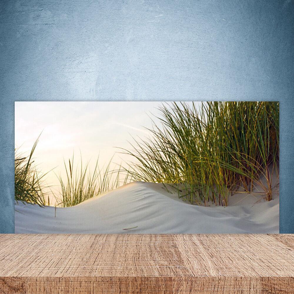 Crédence de cuisine en verre Panneau Paroi 100x50 Paysage Herbe Sable