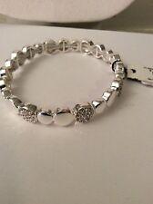 Anne Klein. Silver Tone Pave Circle Bracelet Ak126