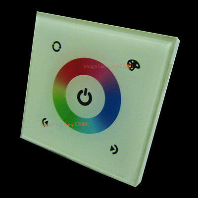 Touch Panel Controller Dimmer Wall Switch Ring 12-24V 12A for RGB LED Strip 08E