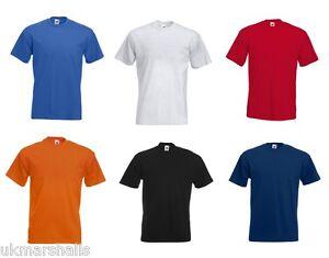 BULK-BUYER-FOTL-Plain-T-Shirt-Blank-8-Colours-S-M-L-XL-XXL-XXXL-TRADE-PRICE