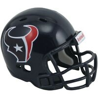 2 Houston Texans Pocket Pro Nfl Football Helmet 2 Size Made By Riddell