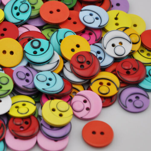 100pcs Resin Moon Fit Sewing Or Scrapbook DIY Craft Kid/'s Button PT91