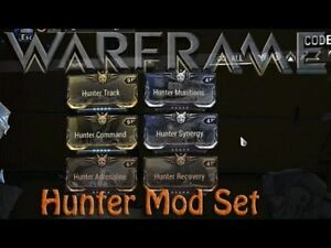 Details about Warframe Hunter Mods Set Maxed (PS4)