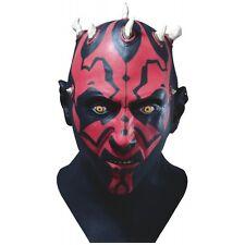 Dlx Darth Maul Latex Mask Star Wars Adult Full Overhead Halloween Costume Acsry