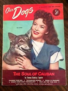 Our-Dogs-Magazine-Spring-1948-Ida-Lupino-Holding-Dog-on-Cover-Rare