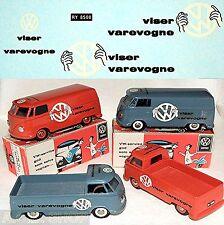 Tekno VW T1 viser varevogne for VW Microbus and Pick-Up 1:50