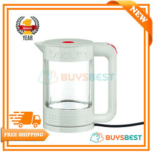 Bodum-Bistro-Electric-Water-Kettle-1-1-Ltr-1500W-White-amp-Clear-Double-Wall-Ketle