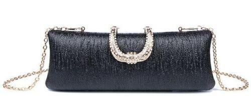 Details about  /LUXY MOON Evening Bag U diamond Gold Silver Clutch Bags Women Fashion Wedding Pa