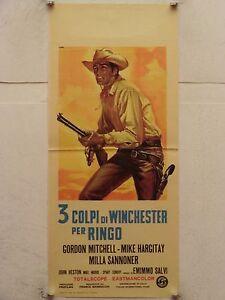 3 TRE COLPI DI WINCHESTER PER RINGO western regia E. Salvi locandina orig. 1966