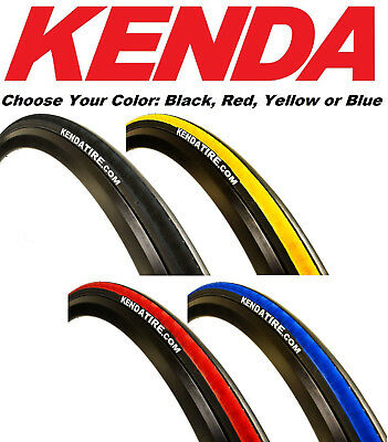 1 or 2Pak Kenda K1081 Kadence 700 x 23 Road Bike Tire Black Yellow Red Blue 260g