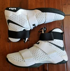 competitive price 6e901 d4f08 Image is loading Nike-Sz-18-Lebron-LBJ-Soldier-10-White-