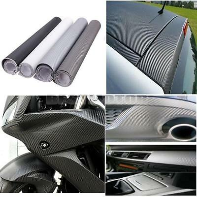 "12""x60"" 3D Carbon Fiber Vinyl Wrap Film Car Vehicle Sticker Sheet Roll 30x152cm"