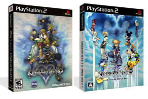 Kingdom-Hearts-II-PS2-Replacement-Spare-Box-Case-Cover-Art-Work-No-Game