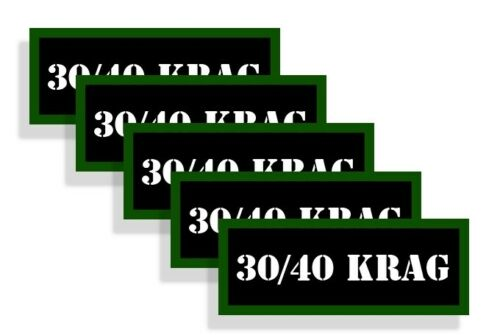 Ammo Can Labels 30//40 KRAG Ammo Can Decals Ammunition Ammo Can Stickers 5-pack