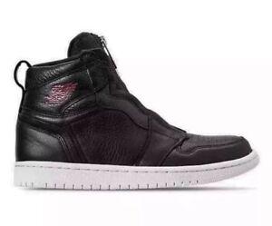 c8886c92be4 NEW Sz 12 Women's Air Jordan Retro 1 Hi Zip Premium Black/Red AT0575 ...